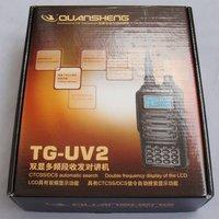 Рация DHL +5W power 128 CH uhf vhf dual band radio QUANSHENG TG-UV2 amateur ham radio transceiver