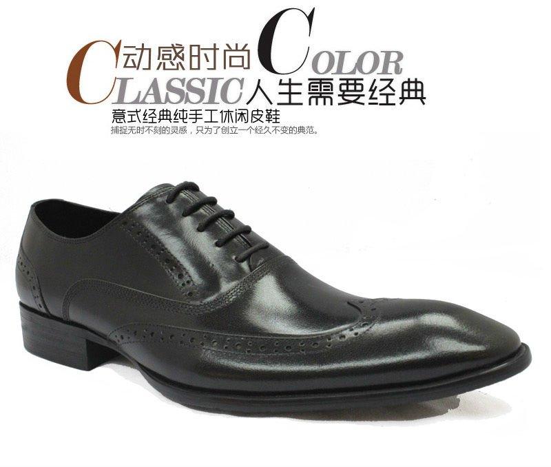 The men shoe leather Dress Shoe