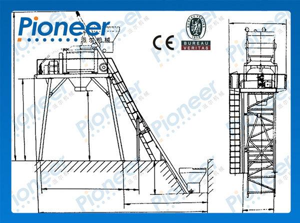 JS1000 concrete mixer with CE