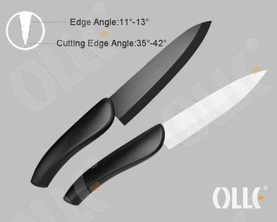 6 Inch Home Kitchen Ceramic Black Blade Kitchen Knife