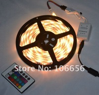 Светодиодная лента 5050 waterproof led flexible rgb led strip light+remote controller+power supply