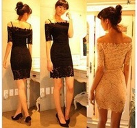 manufacturers supply new fashion Women's lace dress #619-1211