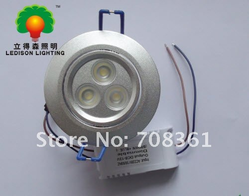 5x free shipping!!! 9W LED recessed light (equivalent to 50w halogen bulb), 3 years warranty