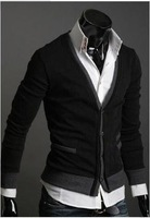 Мужская повседневная рубашка Men's Knitwear Cardigan Fake Pocket Design Slim Casual Sweater Coat M L XL