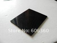 Real Carbon Fiber Rigid Panel Board 2x2 Plain Weave 400mm x 500mm x 1mm Glossy Finish