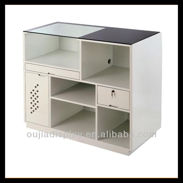 Wooden Reception Counter Tablecash Table Design