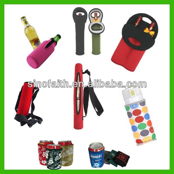 neoprene wine bottle cooler tote bag