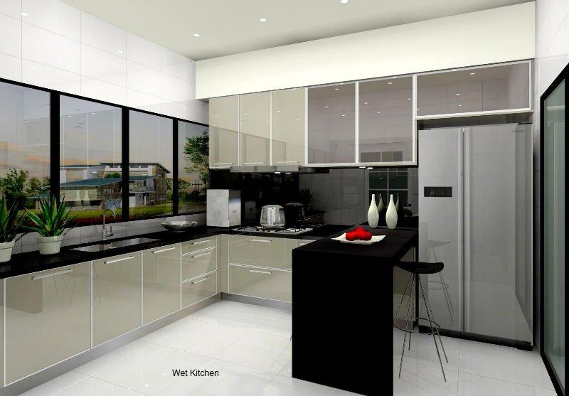 Mdf polymer acrylic kitchen cabinet acrylic panel for for Acrylic kitchen cabinets prices