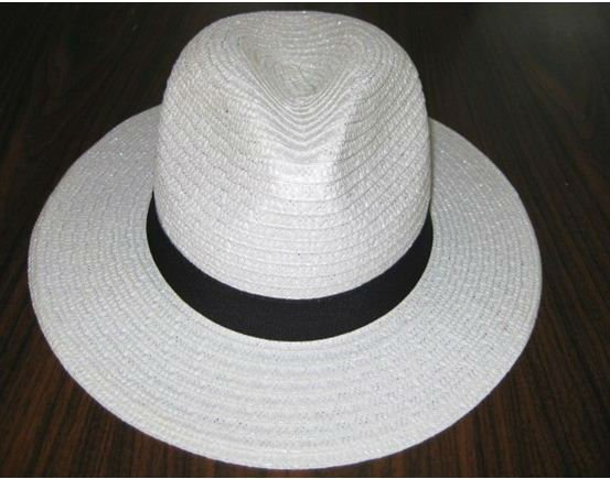 cheap natural white chapeau panama trilby customzied mens paper hat