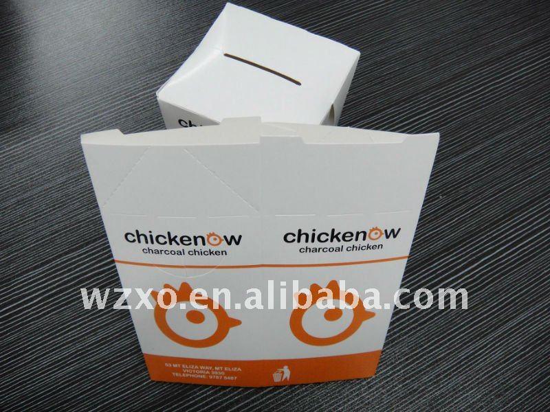 de papel envases de comida rápida para el pollo de palomitas de maíz