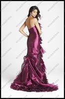 Платье на студенческий бал Fitted Prom Dress with Ruffles P010