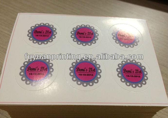 glossy sticker paper