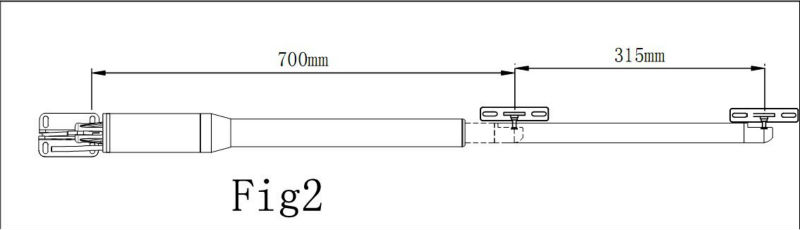 DC24V Double Piston Dirving Swing Gate Opener