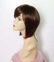 Free shipping-retail ladies' wigs high quality synthetic hair wigs Light brown/dark brown