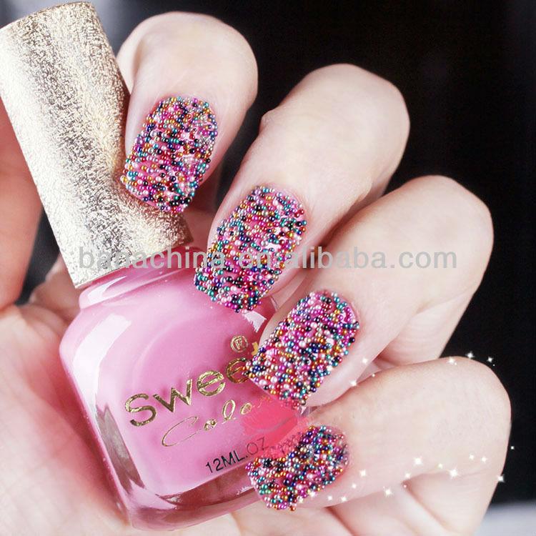 Colourful Nail Art Decoration accessory.Size: 0.6-0.8mm.caviar nails