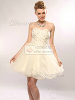 Пышное платье A-line Organza Short/Mini Sequin Homecoming/Sweet 16 Dresses