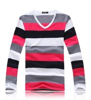 Мужская футболка 2012 fashion mens t shirts casual long sleeve t shirts high quality slim men's t shirt 3 colors