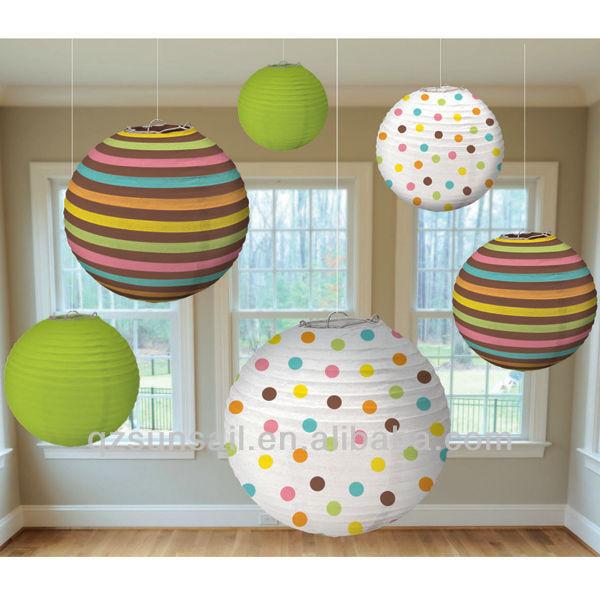 Linternas de papel para el bebé ducha decoración del cuarto de ...