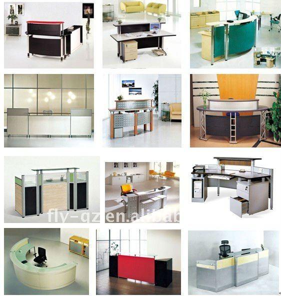 reception counter table design/furniture decoration reception desk ...