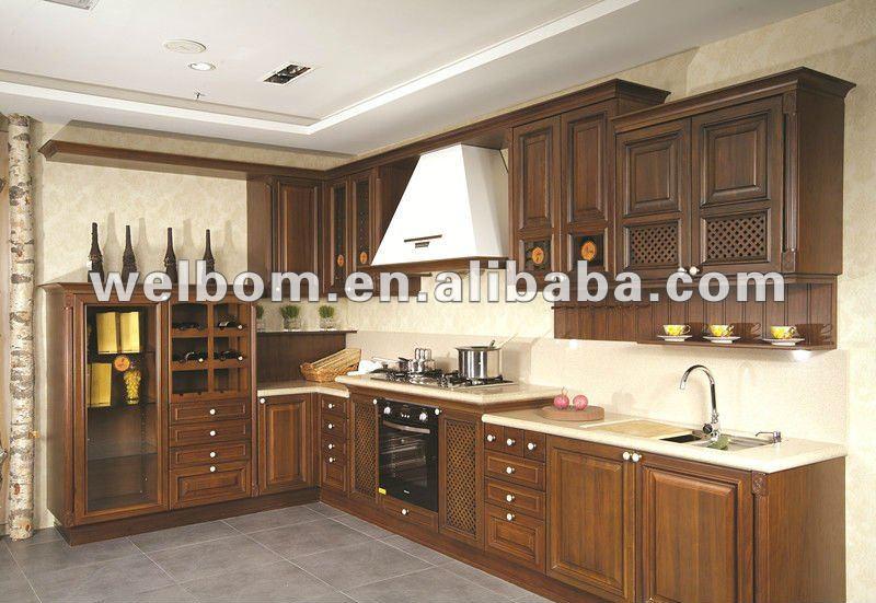 Mdf de madera maciza mueble cocina de diseño cocinas ...