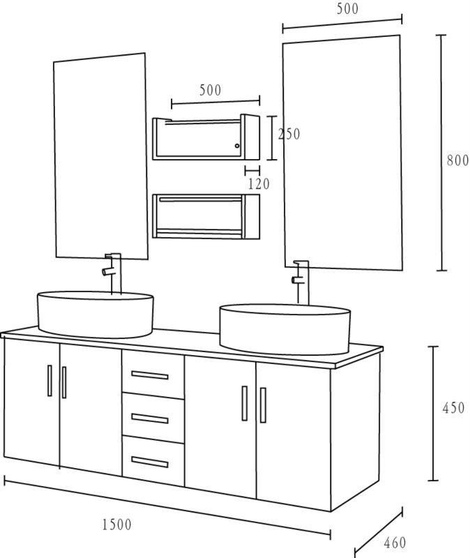 composizione bagno. bagni ad angolo bagni in opposizione ... - Misure Lavandino Bagno