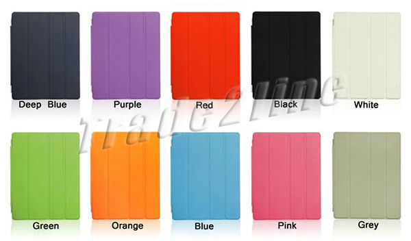 high quality PU leather smart cover for ipad 2 wholesale