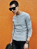 Мужская футболка 2013 new cheap mens slim t shirts long sleeve tee shirts CT806