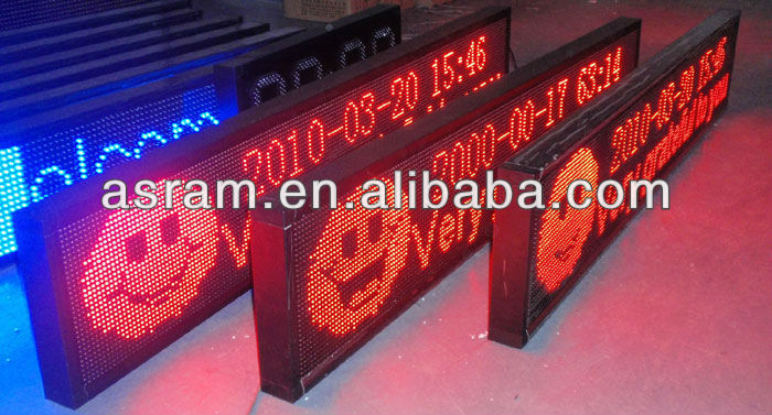 Asram LED waterproof Red Programmable LED Message Sign Scrolling Display Panel Desk Board 16x64 dot