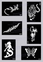 Tattoo Stencils for Body art Painting - Temporary Glitter Tattoo Kit - 200 sheets - Choose the Patterns You like - Free Shipping
