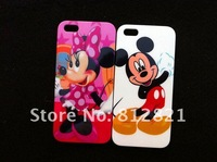 Free Shipping! 10pcs/lot, Cartoon Mickey, Pooh, hello kitty hard cover case for iphone 5
