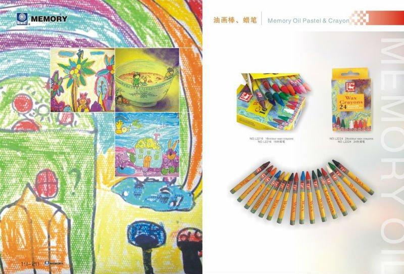 24 colour wax crayon set