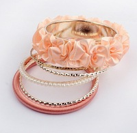 Free shipping (5xbangles=1piece)  Multilayer Charm Lace Bangle & Bracelet  BP90