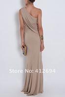 2012 New Design Fashional Custom Made One Shoulder Floor/Length Long Elie Saab Boutique Dresses
