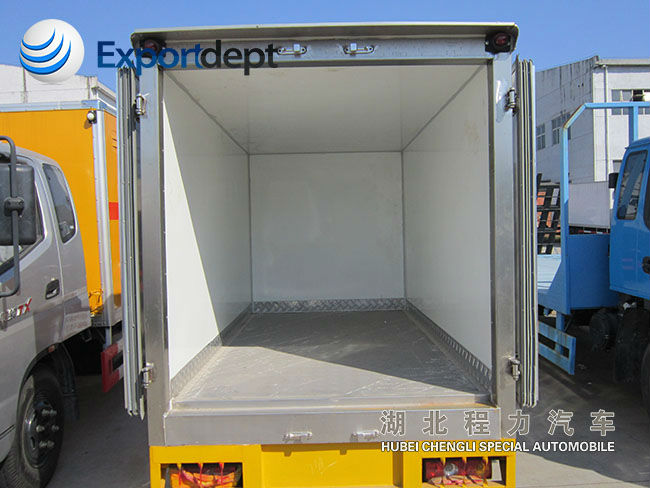 5-15T van, container body cargo 4*2,
