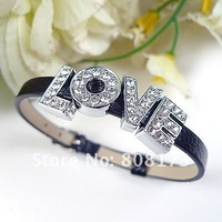 10mm A-Z / 0-9 Metal Slider Charms Letters Full Rhinestones Mixed Style Any Quantity Welcome & DHL Free Shipping