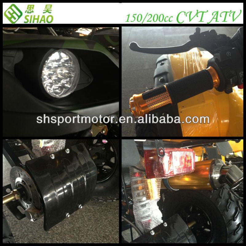 CVT 200cc Off-road ATV 8L Fuel Capacity Automatic Quads