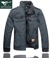 Мужской пуховик fashion leisure men's wear winter man cotton-padded jacket coat