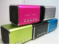 Free shipping Mini Speaker Sports MP3 Player Sound box Boombox with Micro SD/TF card reader + USB -Music