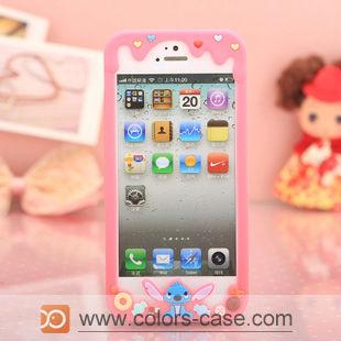 Stitch Silicon Bumper case for iphone 5, for iphone 5 Cute bumper