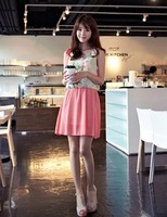 fashion lady  chiffon cute floral  destination dress-red#10957