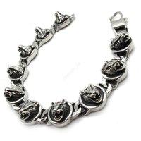 Браслет из нержавеющей стали Fashion Jewelry New Arrive Wolf Akuro Biker Men's Charm Bracelet Stainless Steel Bangle