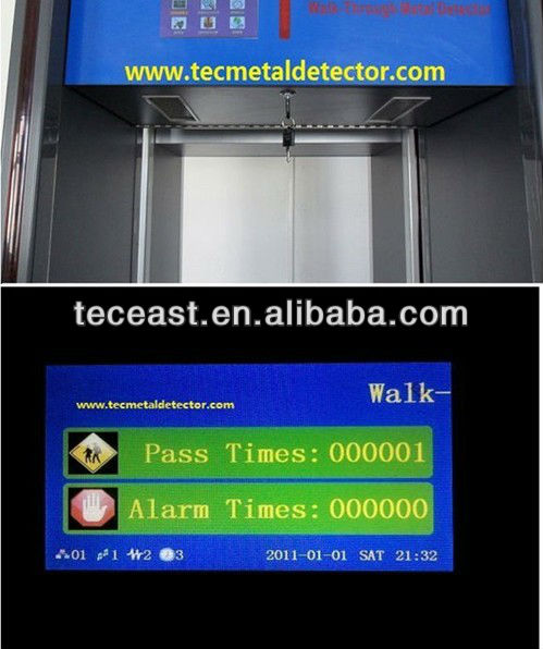 Walk Pass Metal Detector Security Gate TEC-800C