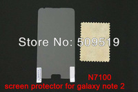 Мобильный телефон In Stock! 10pcs/lot High Quality Clear LCD Screen guard film For Samsung Galaxy Note II 2 N7100 Screen Protector