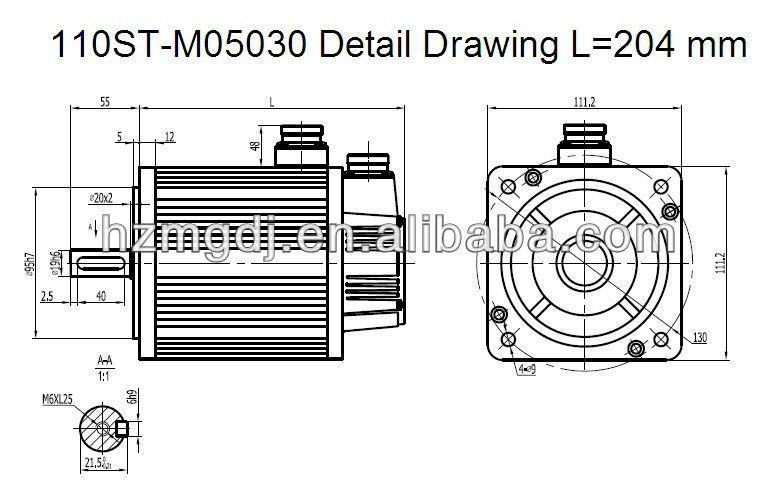 110ST-M05030 Detail Drawing