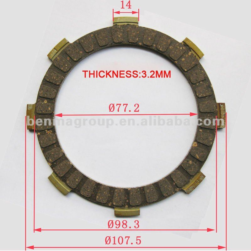 Genuine Quality Motorcycle Clutch plate Bajaj Boxer 100/ B25-HF BM