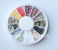 New Nail Art Rhinestones Glitters Acrylic Tips Decoration Manicure Wheel Randomly 8473