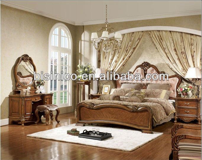 Style am ricain lit ensemble classique soild bois de for Chambre a coucher style americain