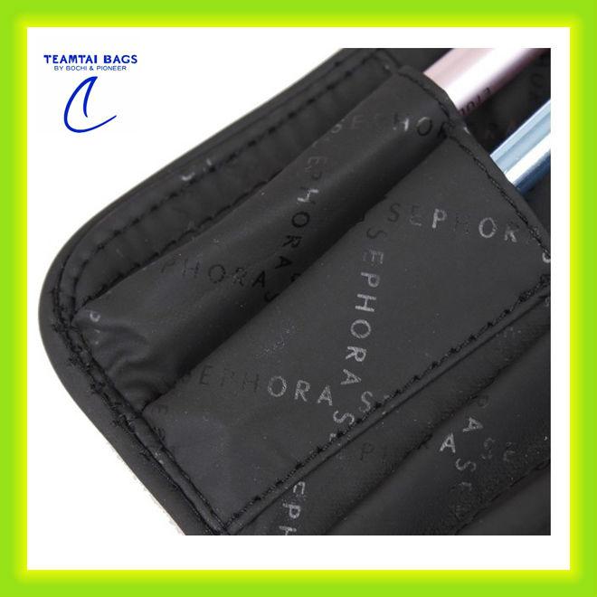 High quality soft pu make up brush bag