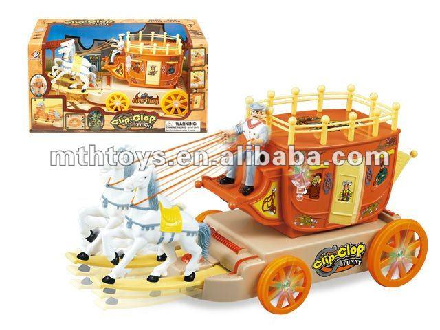 Cartoon Cowboy Wagon