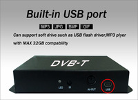 ТВ-тюнер H.264/MPEG-4 Mobile digital dvb-t tv receiver for car, dual tuner, up to 180KM/H